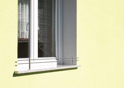INOX zaščita na okenski polici go tehnika