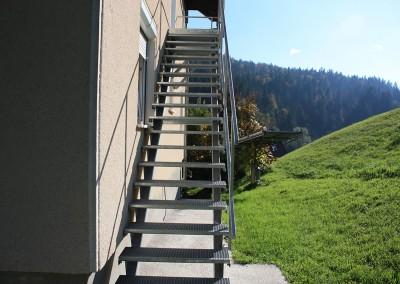 kovinsko stopnišče go tehnika